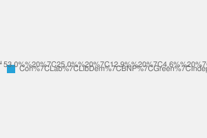 2010 General Election result in Clacton